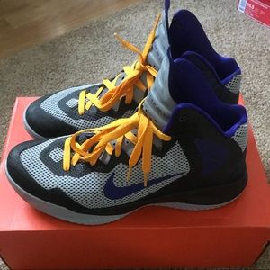 864a1a5b71f3 Nike Shoes - Nike Zoom Hyperenforcer XD 10 Lakers 511370 004